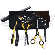 7 Inch Stainless Steel Barber Scissors Hair cutting scissor thinning shear kit
