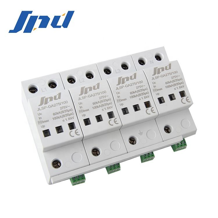 JINLI 275V 100kA 3 phase ac power SPD three phase 4 pole surge protection devices