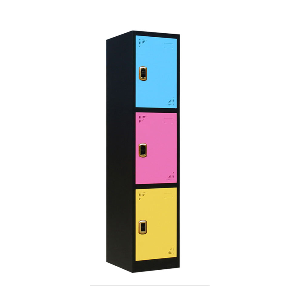 One-Stop Service Metal Clothes Locker Top Sale Multi Doors Steel Baby Wardrobe Cabinet with Key