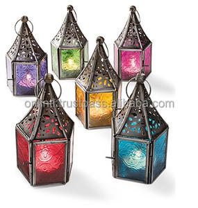 Tiny Colorful tealight Candle Lantern