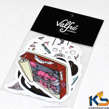Waterproof plastic pvc laptop skateboard die cut logo custom vinyl sticker