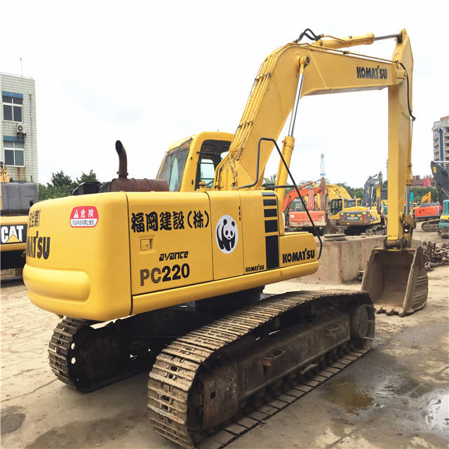 Used Japan Komatsu pc220 crawler excavator 22 ton PC220-6 escavator with good condition