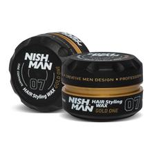 NISHMAN NEW AQUA HAIR WAX 150 ML - 07 GOLD ONE