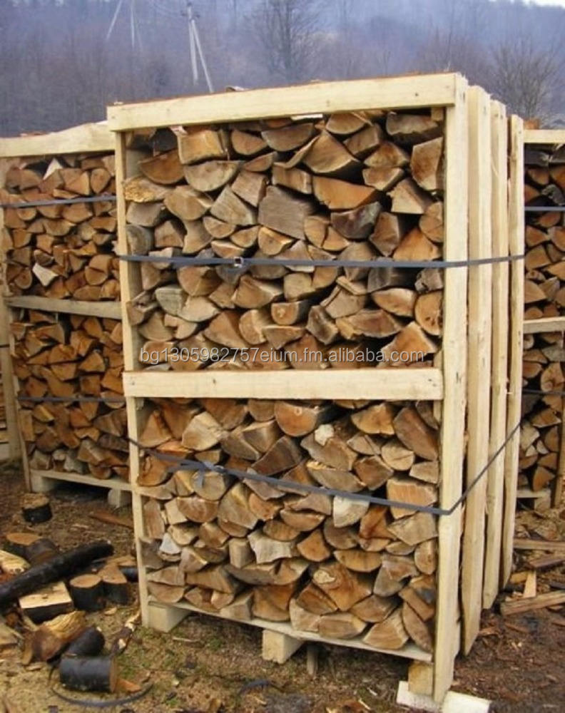 OAK FIREWOOD 10-15 % MOISTURE ON PALLET BOXES