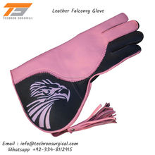 Wholesale 3 Layer Double Skinned Falconry Hunting Glove 13 Inch Long Cowhide/Nubuck Leather Falcon