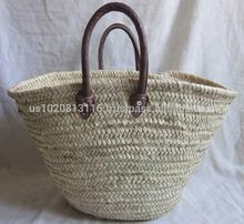 Natural Handcrafted French Market Straw Baskets