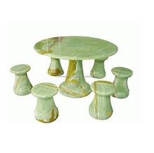 Green onyx table and chairs DSF-BG071