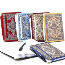 Middle Size  Kilim Patterned Notebook With Pen Turkish Woven Kilim Fabric. From Turkey