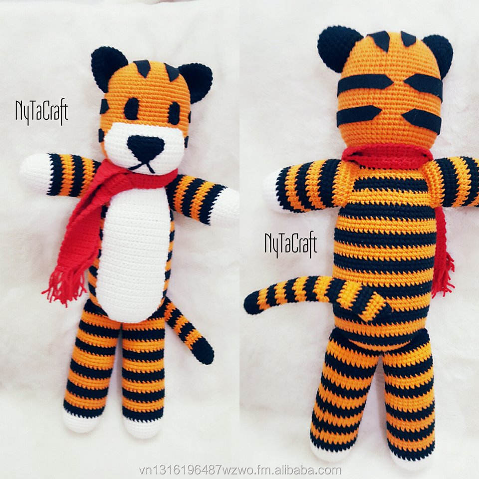 Ravelry: Tiger Amigurumi pattern by Knotty Hooker Designs | 960x960