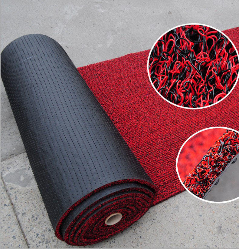 Eco-friendly Spike Backing PVC Coil Mat / Anti Slip PVC Car Floor Mat Roll