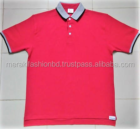 Custom design Print and Embroidery 100% Cotton Pique Plain men's polo t-shirt.