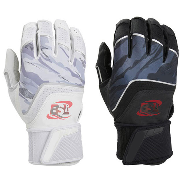 New Design Genuine Leather Baseball Batting gloves
