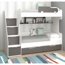 New design kids bunk bed, Children bunk bed with steps (7 Different colors)