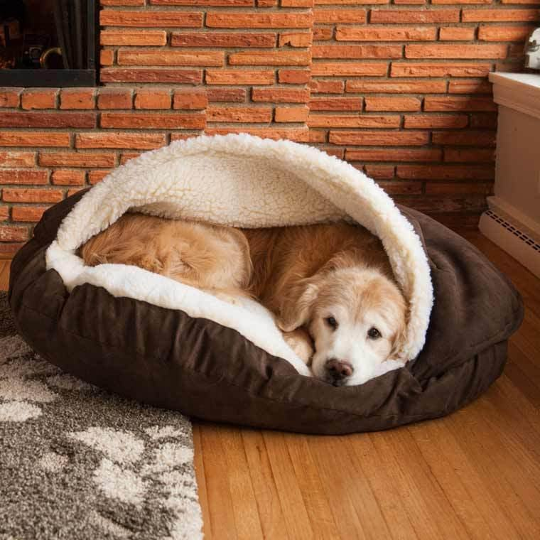 Manufacture Pet Accessories Washable Cozy Snoozer Luxury Cat Pet Bed Large Dog Cave Bed for dog