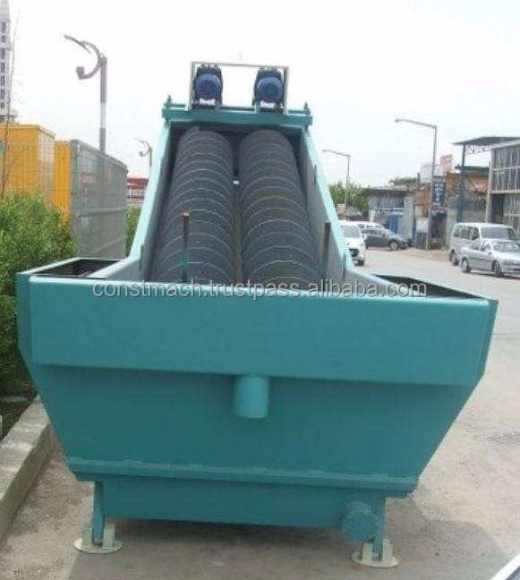 80 tph SAND WASHING PLANT, GRAVEL CLEANING FACILITY, SAND WASH SPIRAL,
