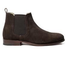 MEN'S BROWN SUEDE LEATHER CHELSEA BOOTS