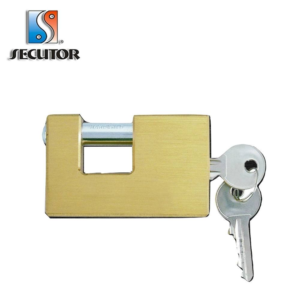 50mm Rectangular Brass Insurance Master Key Door Padlock