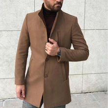 2018 New Long Wool Overcoat Thick Winter Fashion Men Coat