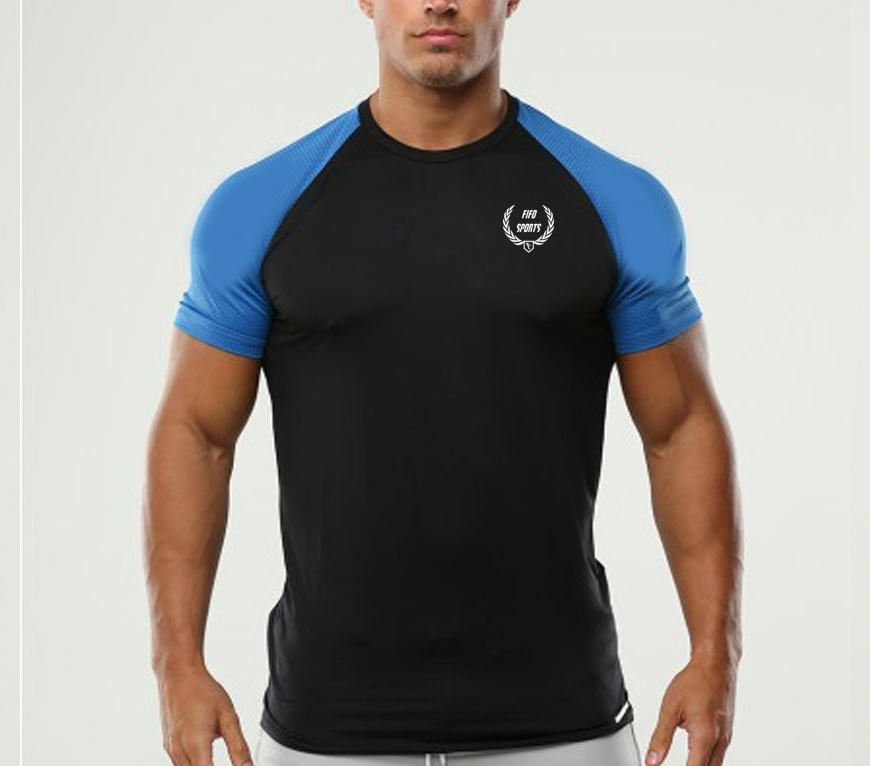 Men's Fitted Muscle Tee Ripped Short Sleeve Workout T Shirt with Holes design