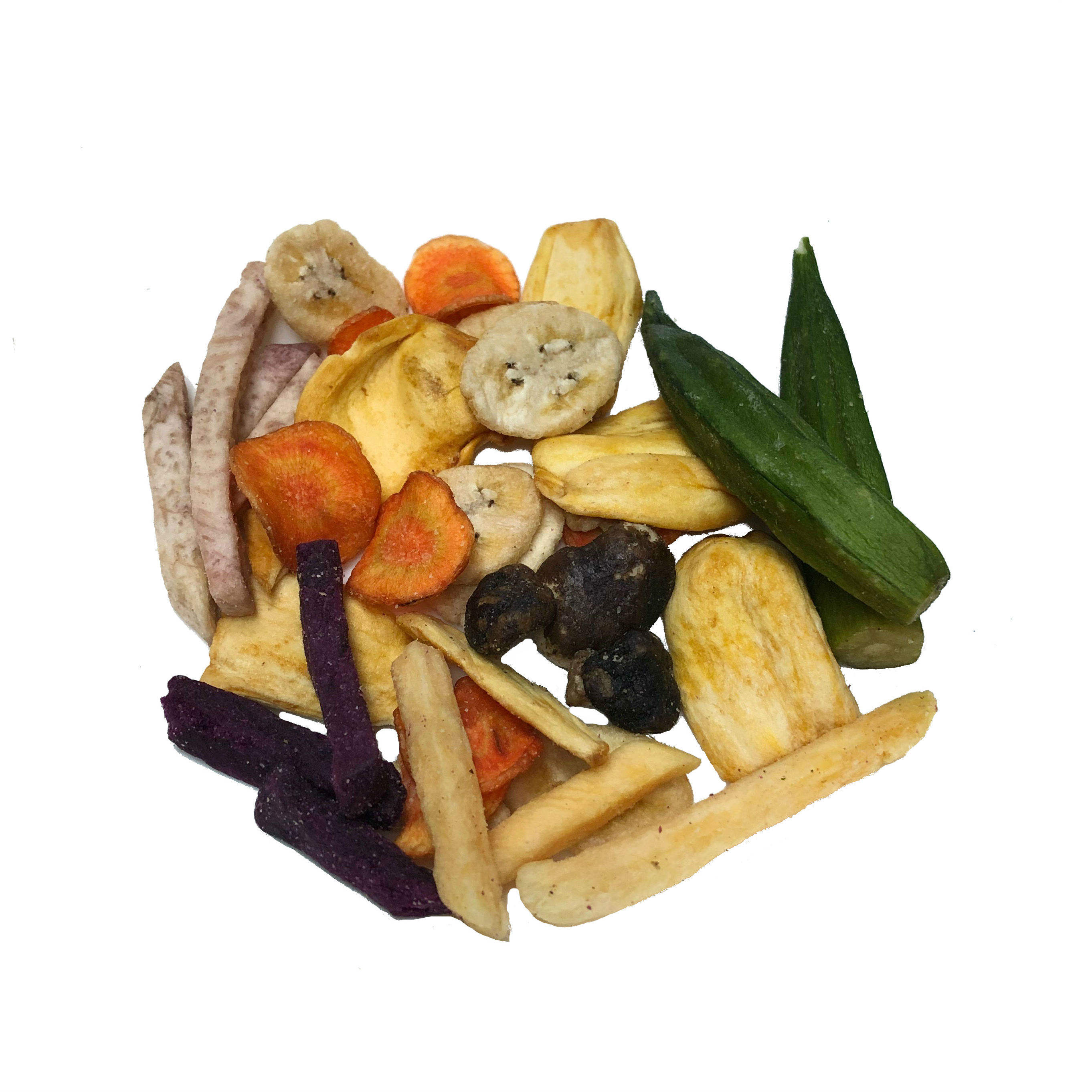 Vacuum Healthy Snack Fried Mixed Tropical Vegetable Fruit Chips
