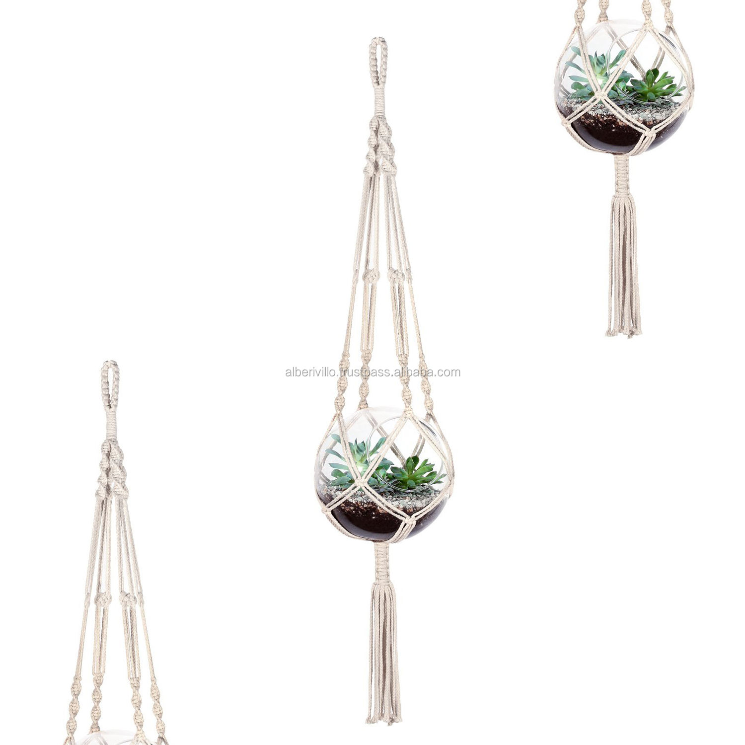 Large Macrame Plant Hanger Macrame Wall Hanger Hanging Planter Crochet Plant Hanger from India