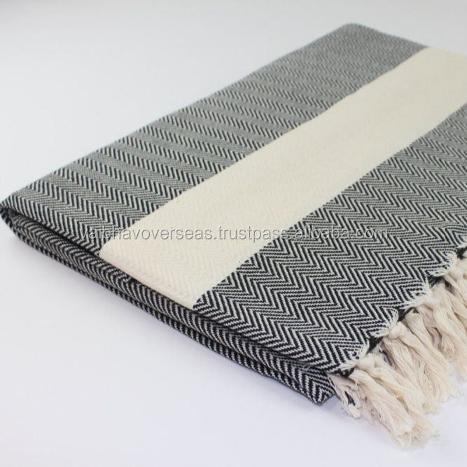 Cotton Sofa Throws, Wave Pattern Cotton Throws,
