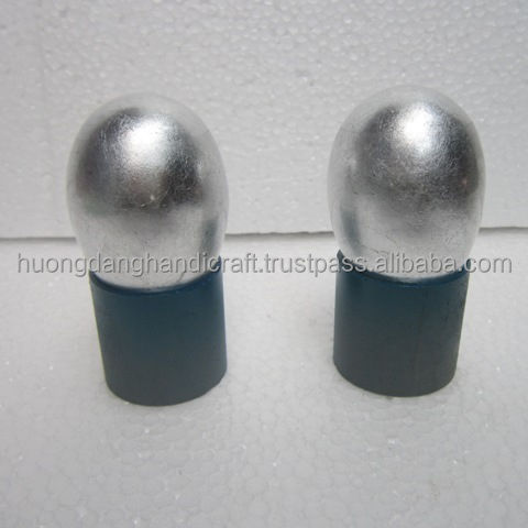 Titanium silver painted lacquer egg, ecofriendly and competitive price lacquerware from vietnam