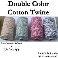 COTTON TWINE in Double Color Cotton Twine