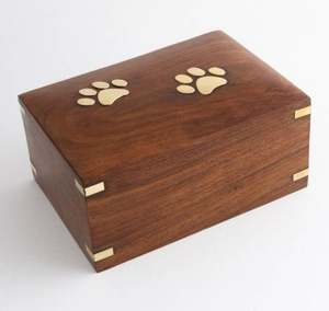 Wooden Pet Paws Cremation Urns