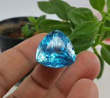 55.38 CT Topaz 100% Natural Loose Gemstone Trillant Shape Swiss Blue Topaz
