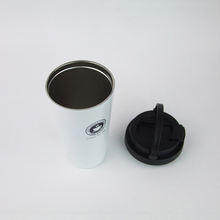 Customized logo 15oz insulated double wall stainless steel vacuum coffee travel mug with handle