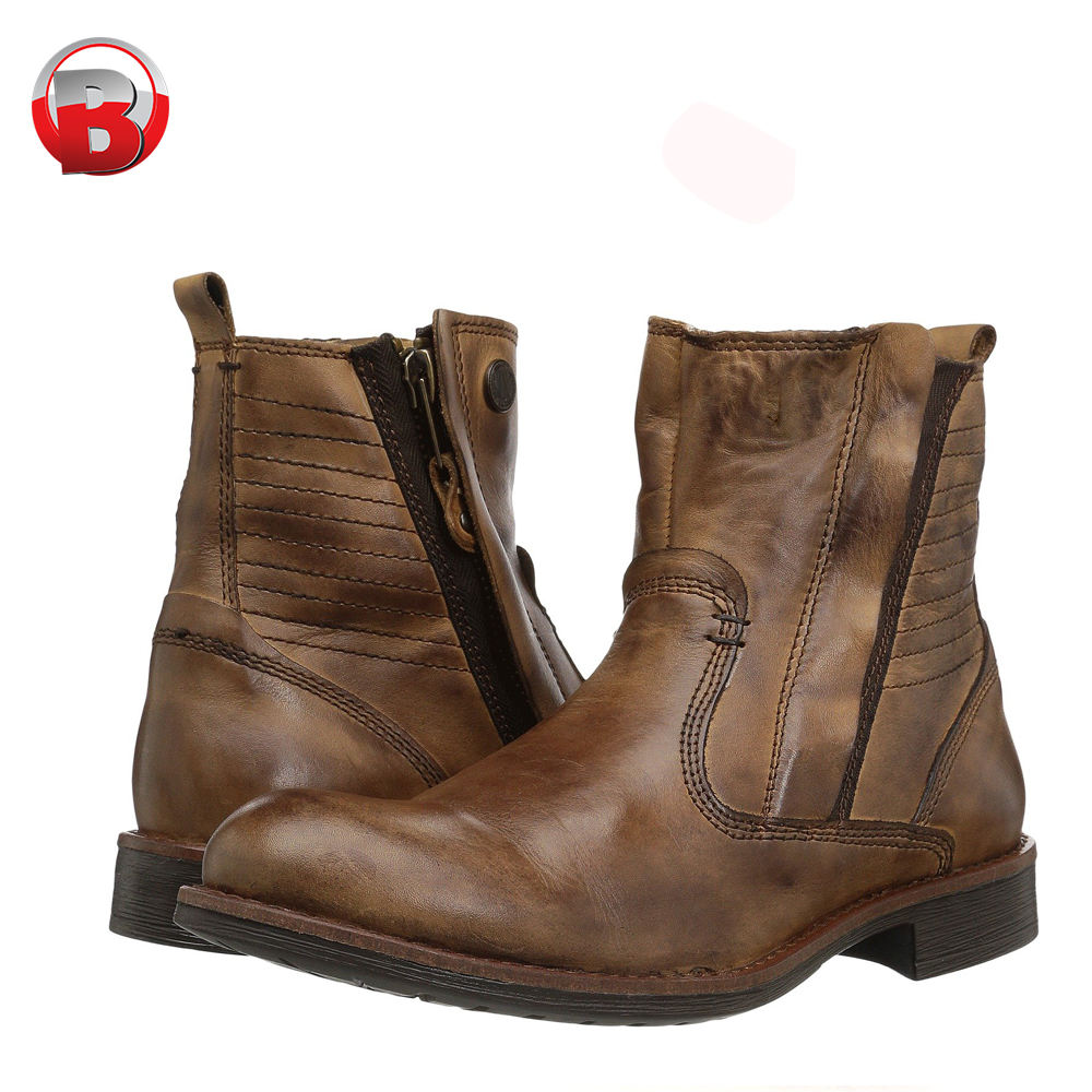 Latest design handmade Italian branded genuine leather Chelsea boots men