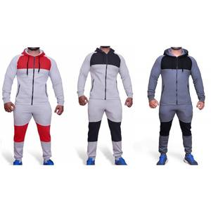 Groothandel Mode Oem Custom Mannen Sweatsuit Plain Trainingspakken