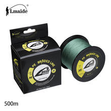 500m 4 strands  braided  fishing line PE strong strength  reel fishing  line 4LB-150LB
