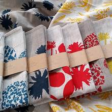 100% printed linen cotton kitchen tea towel  cheap price