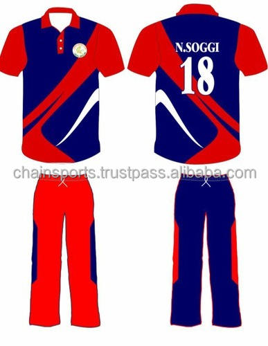Cricket Team Uniforms With Names And Number