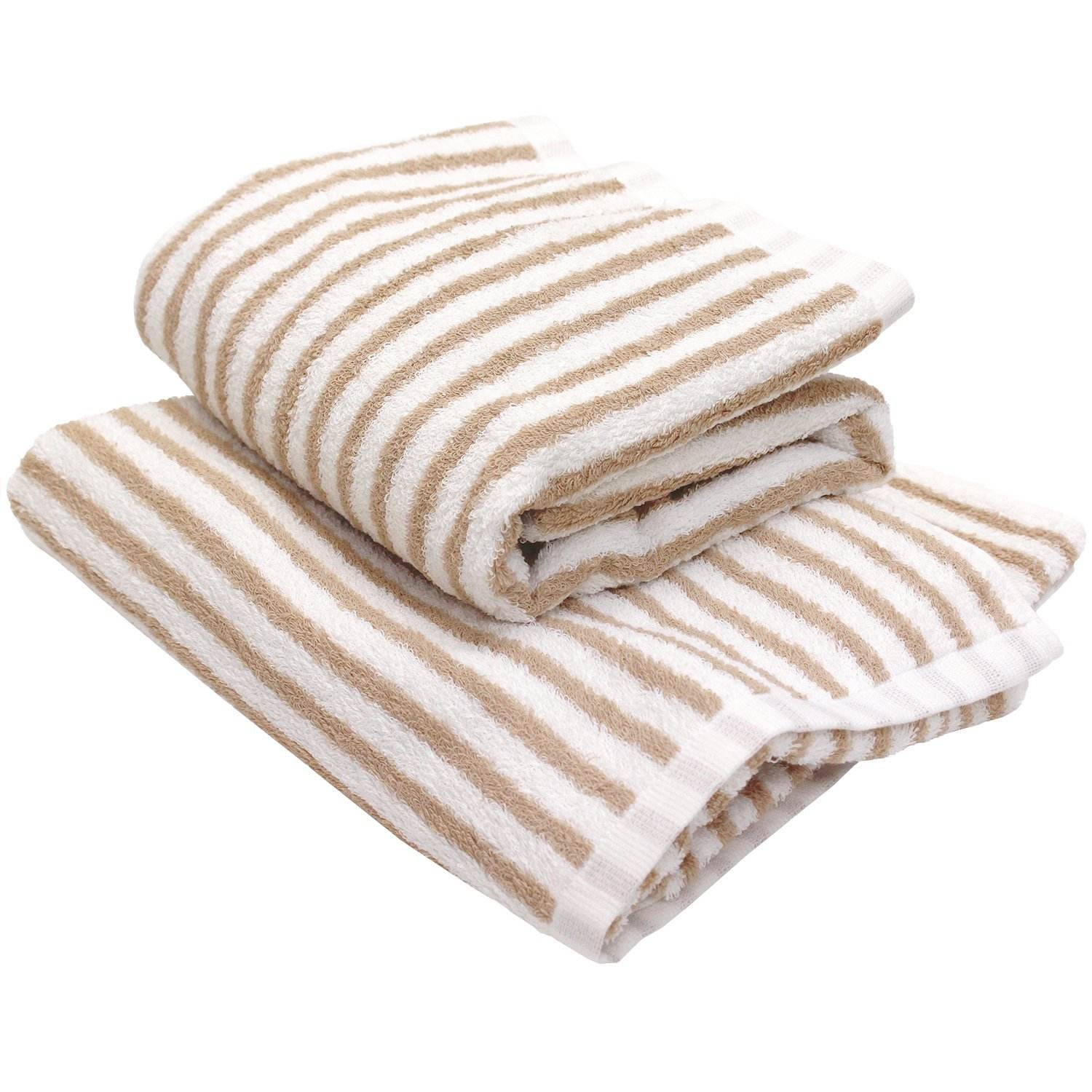 Osaka Sensyu towel Hotel Style Towel stripe design thin stripe made in Japan 100% cotton Bath towel moca light brown