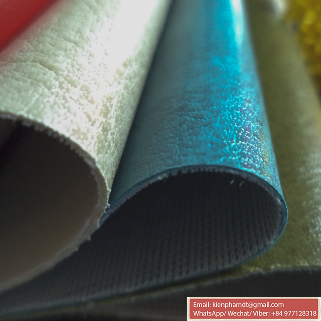 Good Quality PVC artificial leather for bags, synthetic bag leather pvc