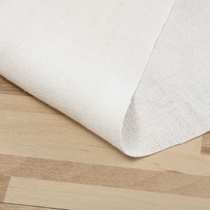 Eco-friendly white 100% hemp fabric canvas wholesale in stock