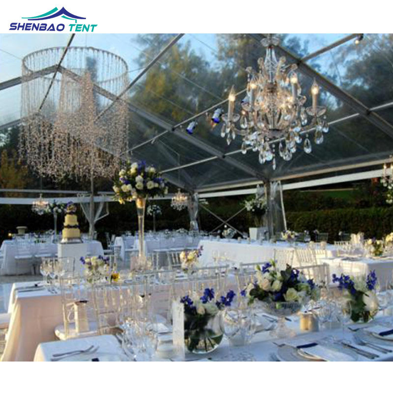 10 X 30m Transparent Cheap Wedding Party Marquee Tents For 250 People