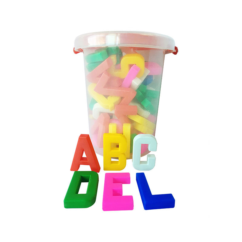 Plastic letter alphabet block set for kids learning playing educational toy