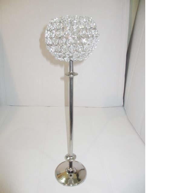 The crystal ball wedding centerpiece candlesticks