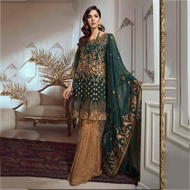 Style pakistanais Parti Porter Concepteur Salwar Costumes En Gros Collection