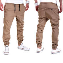 Mens Casual Pants Slacks Jogging Training Trousers Tracksuit Bottom