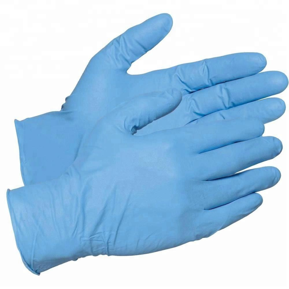 Biodegradable comfortable wearing disposable nitrile exam gloves