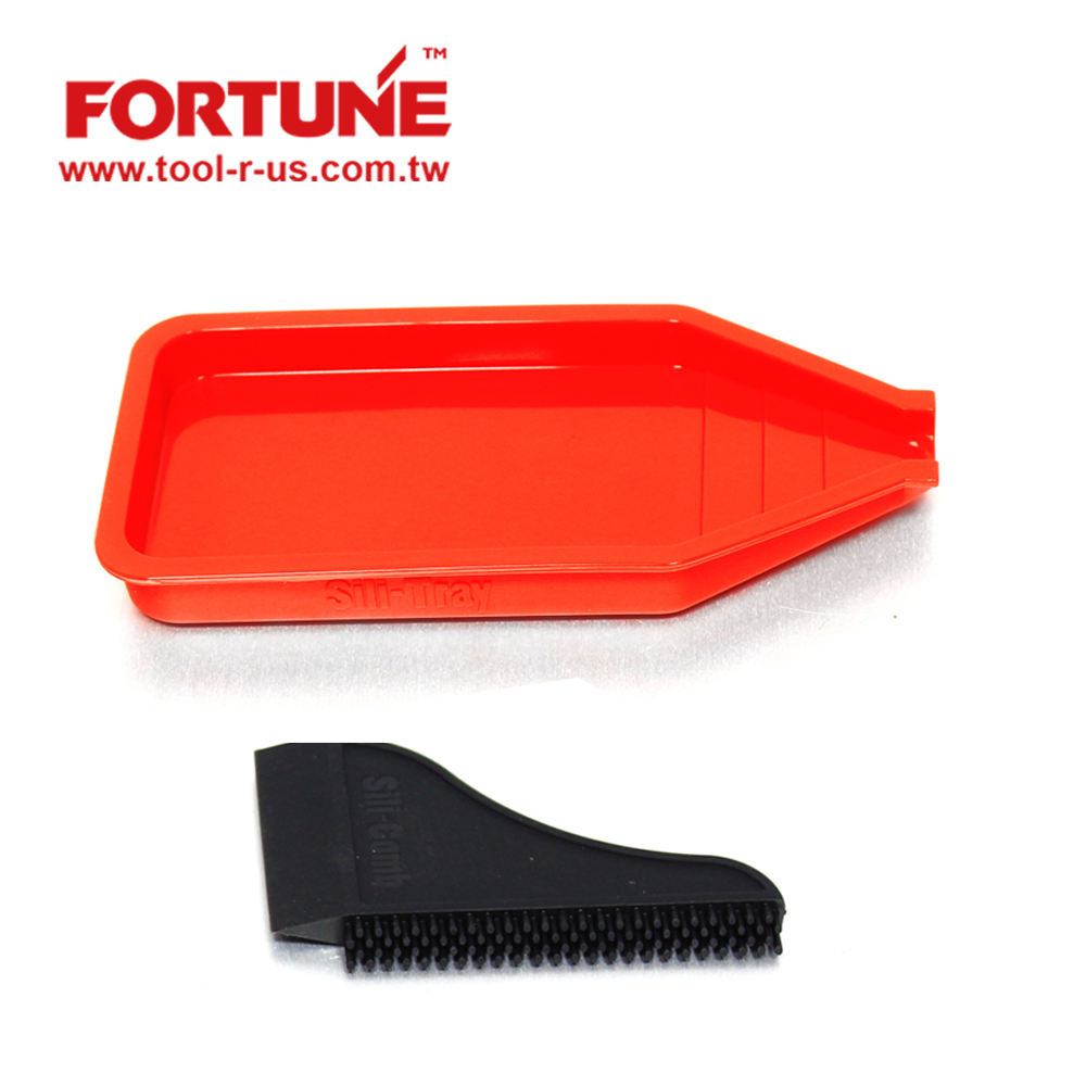 Silicone Glue Brush Silicone Tray Wood Application Kit