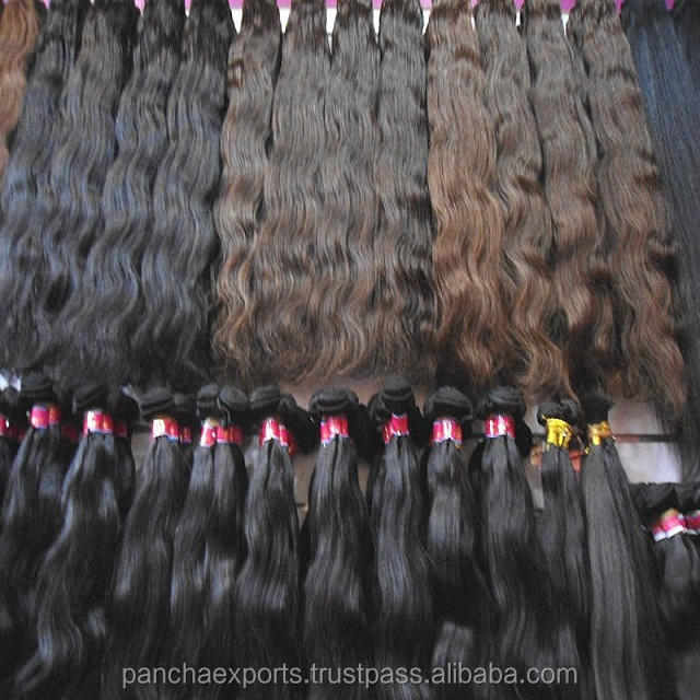 100% Raw Hair / Ideal hair loose wavy virgin Indian human hairextension