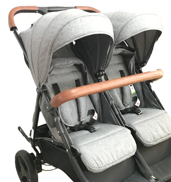 Seat next luxury durable aluminium alloy quality meet EN1888 certification Twin Stroller