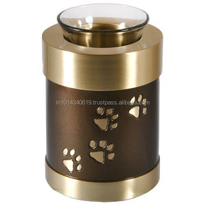 brass tea light cremation urn
