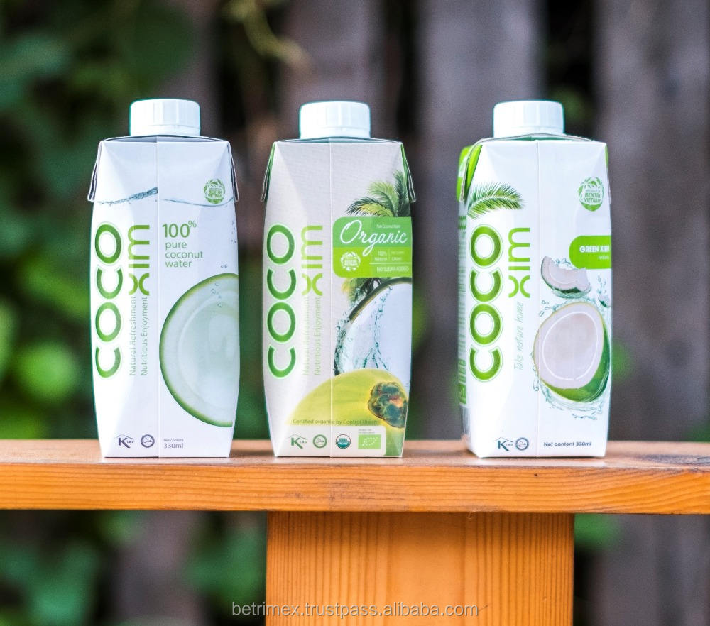 100% NATURAL COCONUT WATER 330ML & 1000ML IN TETRA PRISMA
